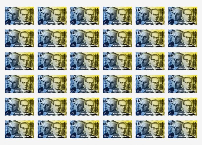 Postage stamp design B&H Nobel Laureates