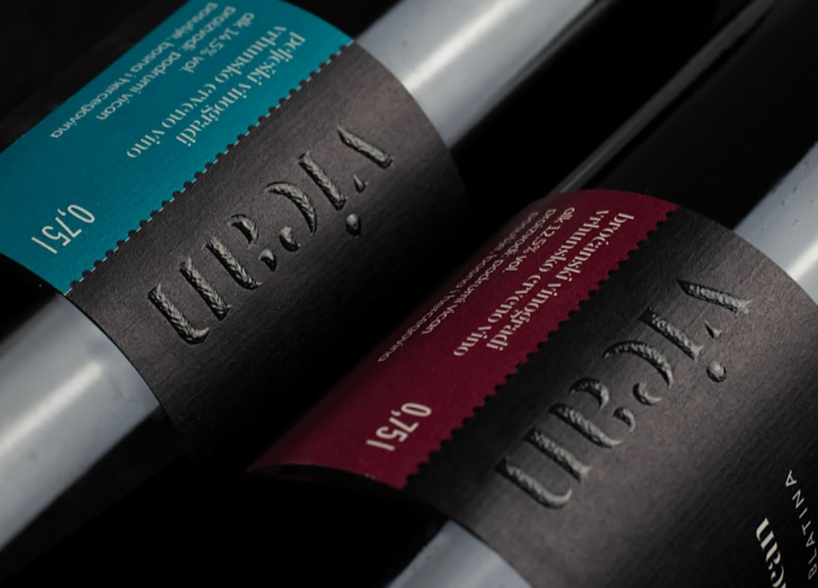 Logotype and label design for Vican wines