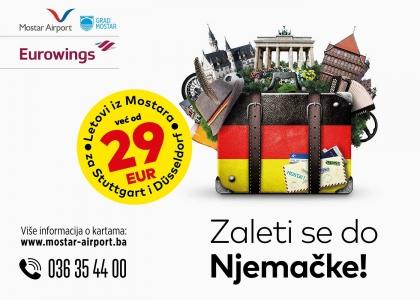 Zaleti se do Njemačke! – idejno rješenje kampanje Zračne luke Mostar