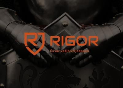 Visual identity of the Rigor company